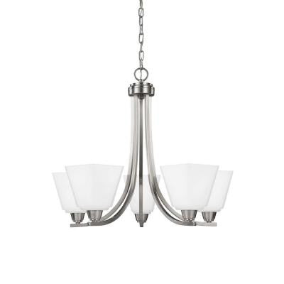 Parkfield 5-Light Brushed Nickel Single Tier Chandelier