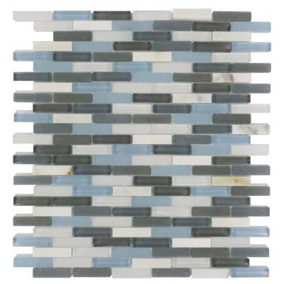 Cleveland Shannon Mini Brick 10 in. x 11 in. x 8 mm Mixed Materials Mosaic Floor and Wall Tile