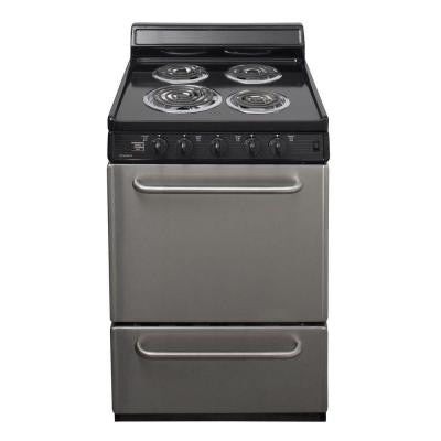 24 in. 2.97 cu. ft. Electric Range in Stainless Steel