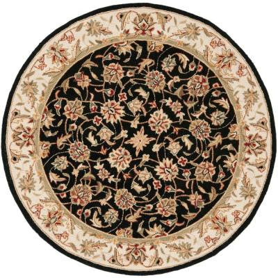 Chelsea Black 4 ft. Round Area Rug