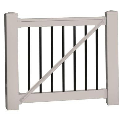 Bellaire 36 in. x 60 in. Vinyl Tan Gate Rail Kit