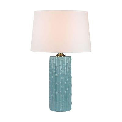 Orly 30 in. Duck Egg Table Lamp with Shade