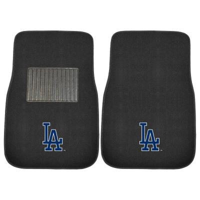 MLB Los Angeles Dodgers 2-Piece 17 in. x 25.5 in. Carpet Embroidered Car Mat
