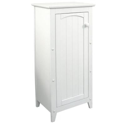 16-1/4 in. W Wood Linen Cabinet in White