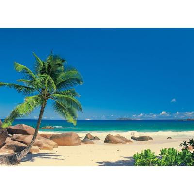 76 in. x 106 in. Seychellen Palm Tree Mural