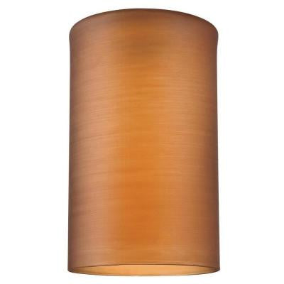 6-1/2 in. Hand Blown Amber Glass Cylinder Shade with 2-1/4 in. Fitter and 4 in. Width