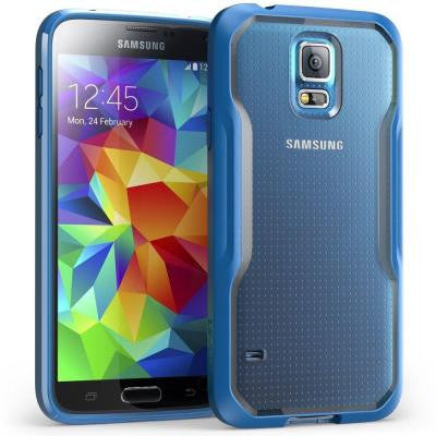 Galaxy S5 Unicorn Beetle Hybrid Bumper Case - Blue