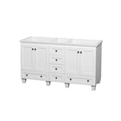 Acclaim 60 in. Double Vanity Cabinet Only in White