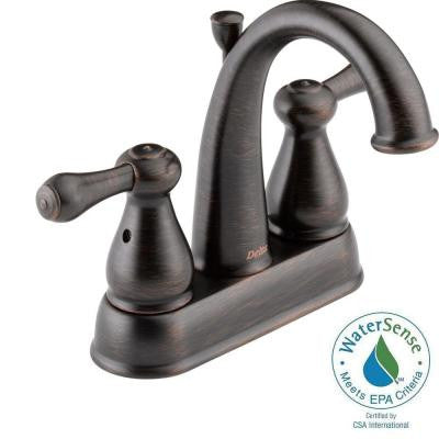 Leland 4 in. 2-Handle High-Arc Bathroom Faucet in Venetian Bronze
