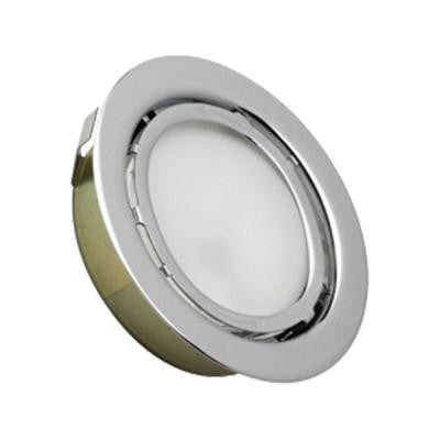 Aurora 1-Light Chrome Recessed Disc Light