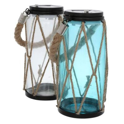 9 in. Solar Powered Outdoor LED Rope Lanterns (2-Pack)
