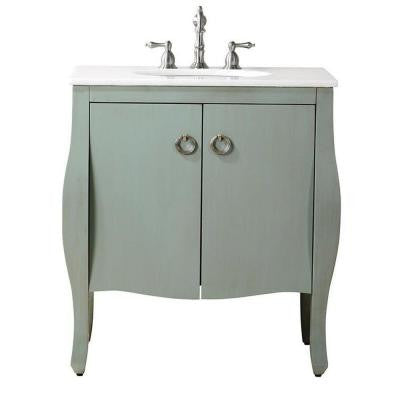 Savoy 31 in. W x 22 in. D Vanity with Vanity Top in White