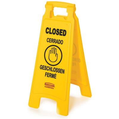Multi-Lingual Closed 2-Sided Floor Sign