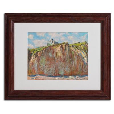 11 in. x 14 in. Church at Varengeville Matted Brown Framed Wall Art
