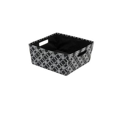 12.5 in. x 5.8 in. x 12.5 in. Decorative Fabric Half Storage Bin in Nautical Knot (4-Pack)