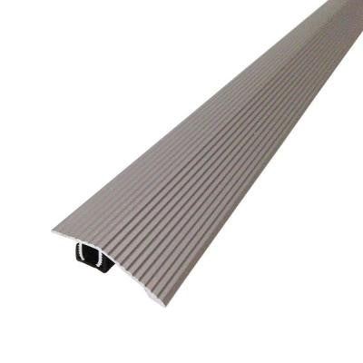 Cinch 1.8125 in. x 36 in. Satin Nickel Fluted Reducer Transition Strip for Uneven Floors with Snap Track