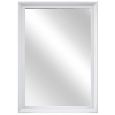 28.35 in. W x 40.35 in. L Framed Wall Mirror in White