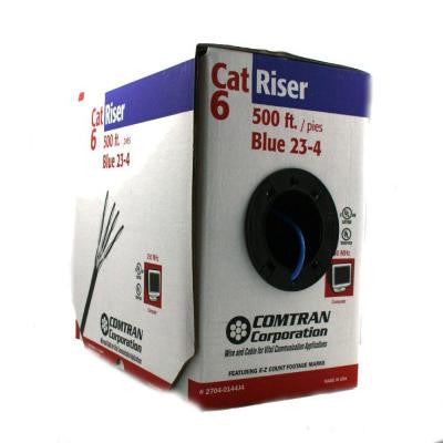500 ft. 23/4-Gauge Category 6 Riser Internet Wire - Blue