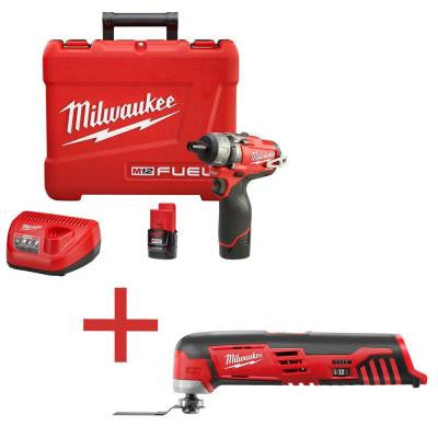 M12 12-Volt Lithium-Ion Cordless Brushless 1/4 in. 2-Speed Screwdriver Combo Kit with Free M12 Multi-Tool (Tool-Only)