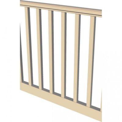 Original Rail 8 ft. x 36 in. Sand Square Baluster Level Rail Kit