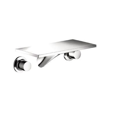 Massaud Wall-Mount 2-Handle Low-Arc Bathroom Faucet in Chrome