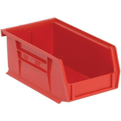 1.45-Qt. Stackable Plastic Storage Bin in Red (24-Pack)