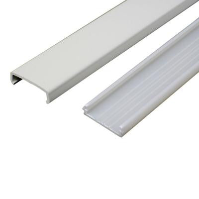 5 ft. Non-Metallic Raceway Wire Channel - White