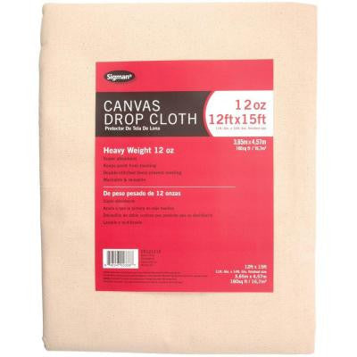 11 ft. 6 in. x 14 ft. 6 in., 12 oz. Canvas Drop Cloth