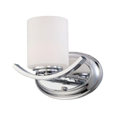 Beam Collection 1-Light Chrome Wall Sconce