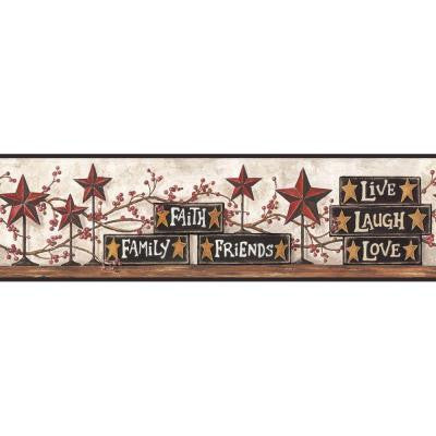 6 in. Stars and Blocks on Shelf Border