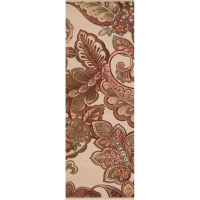 Cerastium Beige 3 ft. x 8 ft. Indoor Rug Runner