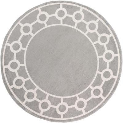 Eagan Gray 7 ft. 10 in. x 7 ft. 10 in. Round Indoor Area Rug