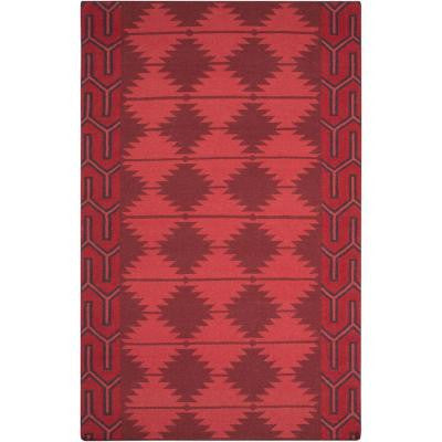 Jewel Tone II Cherry 5 ft. x 8 ft. Indoor Area Rug