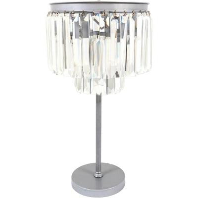 Eisler 28.75 in. Brushed Silver Indoor Table Lamp