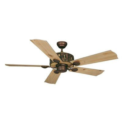 Log Cabin 52 in. Weathered Patina Ceiling Fan