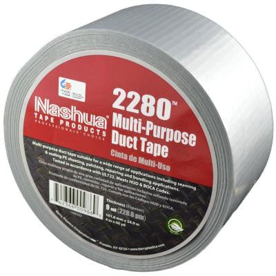 4 in. x 60.1 yds. 2280 Multi-Purpose Silver Duct Tape