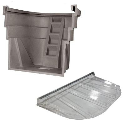 2060 091 Sandstone Egress Well with Polycarbonate Flat Cover Bundle