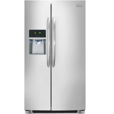 Gallery 22.16 cu. ft. Side by Side Refrigerator in Stainless Steel, Counter Depth