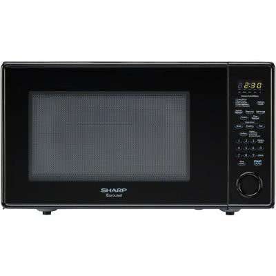 Carousel 1.8 cu. ft. 1100-Watt Countertop Microwave in Black with Sensor Cooking