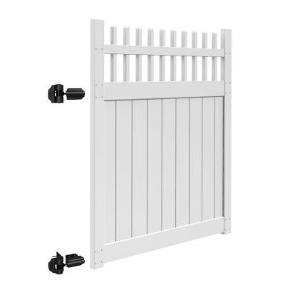 Tennessee 5 ft. x 6 ft. White Vinyl Un-Assembled Fence Gate