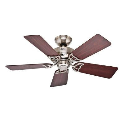 Hudson 42 in. Brushed Nickel Ceiling Fan