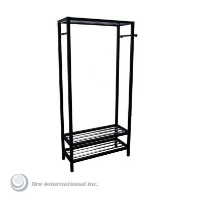 Hanger and Shoe Rack Stand in Black