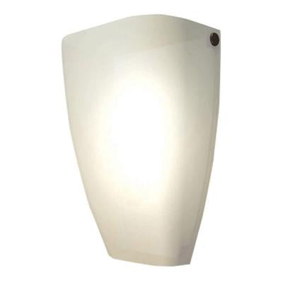 1-Light Satin Nickel Rounded Sconce
