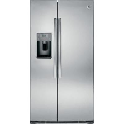 25.4 cu. ft. Side by Side Refrigerator in Stainless Steel