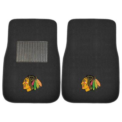 NHL Chicago Blackhawks 2-Piece 17 in. x 25.5 in. Carpet Embroidered Car Mat