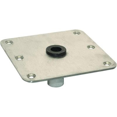 7 in. x 7 in. Stainless Steel Seat Base Plate with 3/4 in. Pin Style