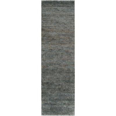 Bexley Turquoise Hemp 2 ft. 6 in. x 8 ft. Rug Runner