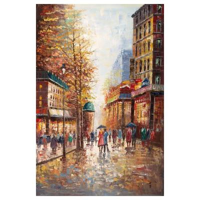 24 in. x 32 in. French Street Scene I Canvas Art