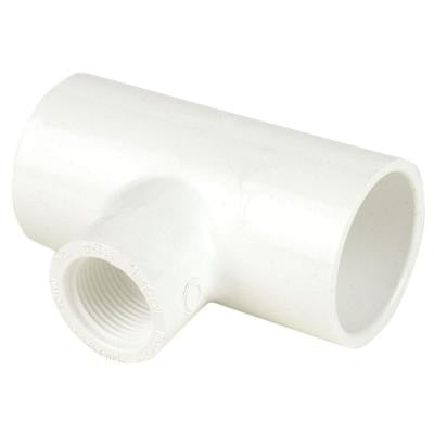 1 in. x 1 in. x 1/2 in. Schedule 40 PVC Reducing Tee