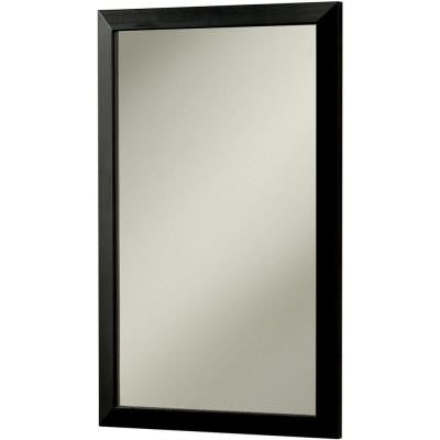 City 16.5 in. W x 26.5 in. H x 5.25 in. D Recessed or Surface Mount Mirrored Medicine Cabinet in Black